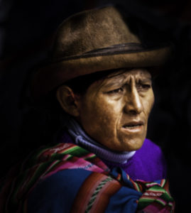 Peruvian hill people in Cusco, Peru