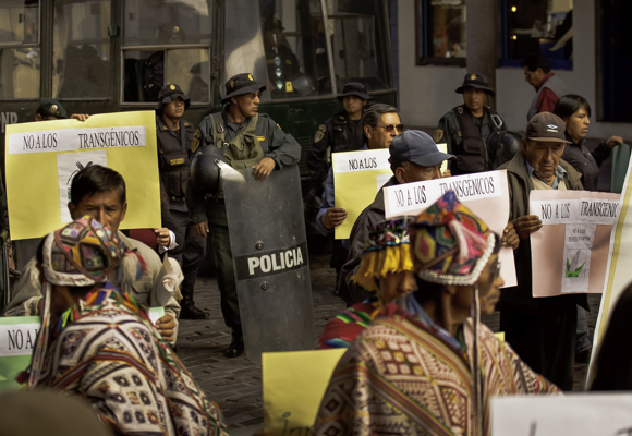 Monsanto transgenic protest, Cusco, Peru