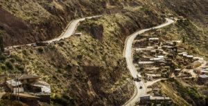 Road from Cusco and Chinchero to Urubamba, Peru