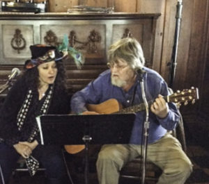 Gloria Strasburg and Dan Coffin, Blue Wing saloon, Upper Lake, Lake County, California