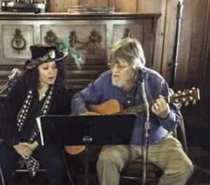 Gloria Strasburg and Dan Coffin, Blue Wing saloon, Upper Lake, Lake County, California