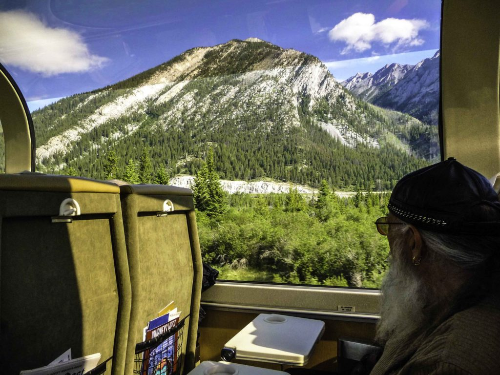 Rocky Mountaineer for riding the rails from Banff to Vancouver, BC, Canada