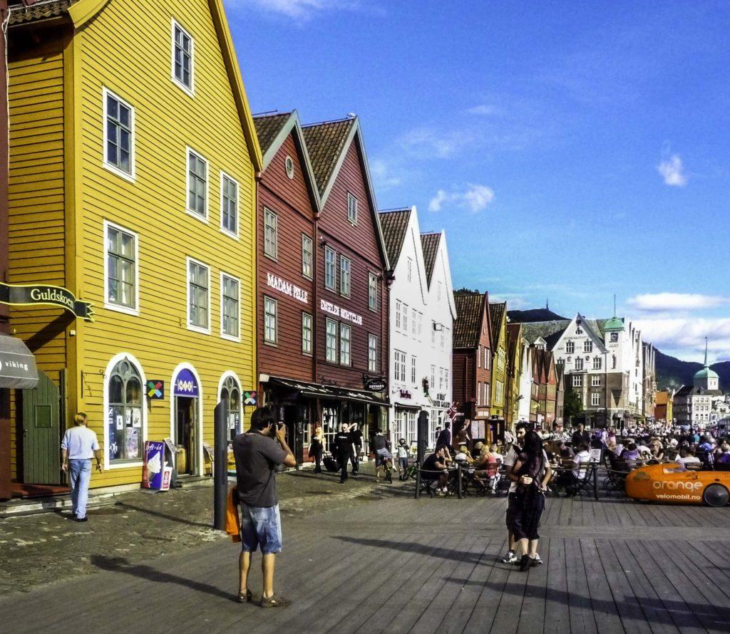 Bergen is gateway to the fjords of Norway, Bergen, Norway