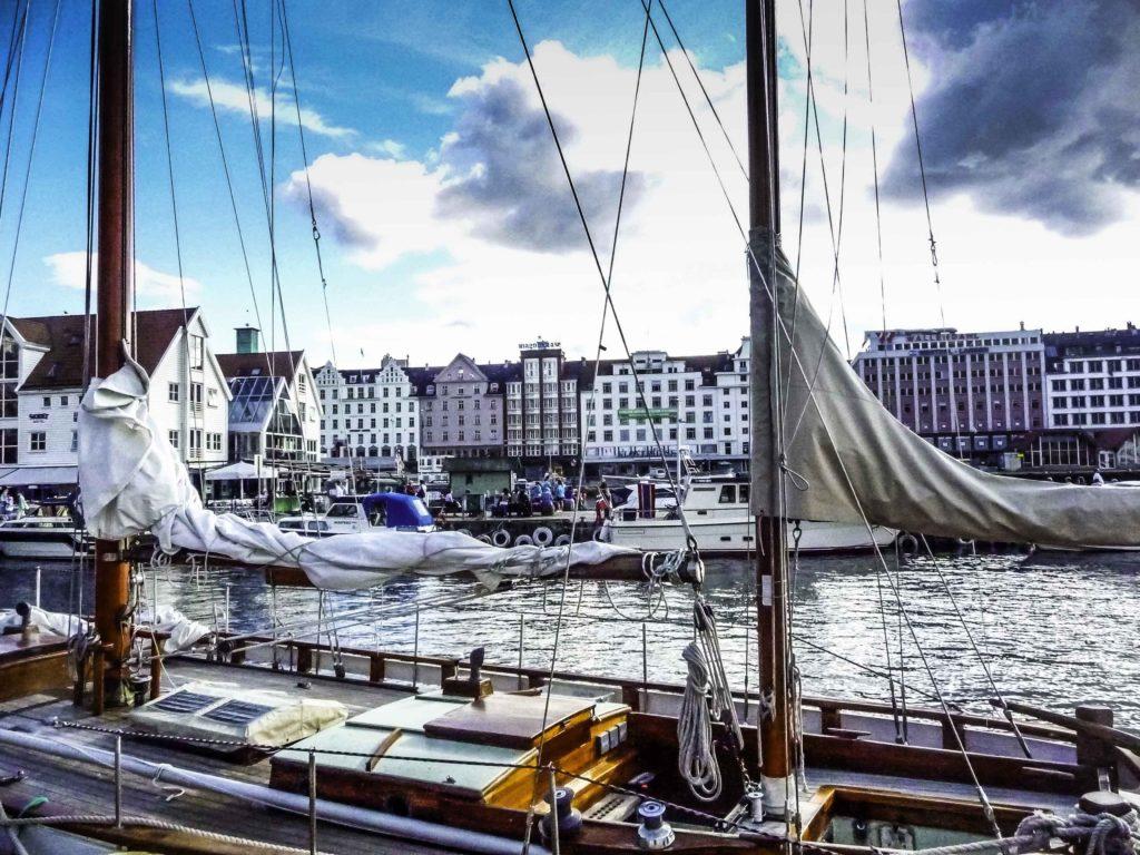 Bergen: Gateway to Norway's fjordsBergen,Norway, Coastline is dotted with islands and fjords, fjords, NorwayBergen is gateway to the fjords of Norway, Historic Bergen harbor, Bergen, Norwa