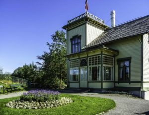 Bergen is gateway to the fjords of Norway, Edvard Grieg's home in Bergen, Norway