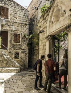 Inviting explorations in Diocletian's palace, Split, Croatia, Croatia Islands Cruise