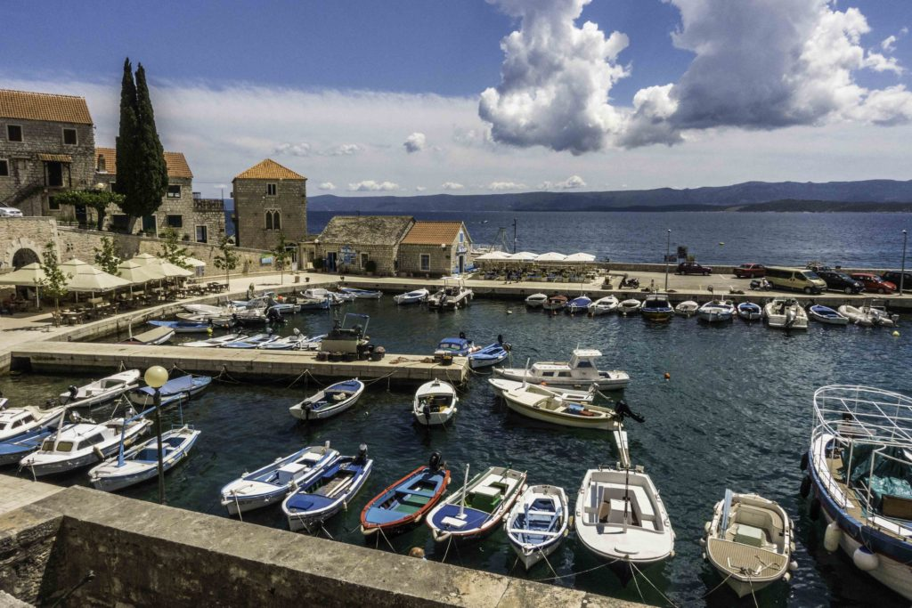 Bol Harbor on Brac Island, Croatia, Dalmatian Islands, Aegean Sea, Katerina Lines cruise, Croatia Islands Cruise