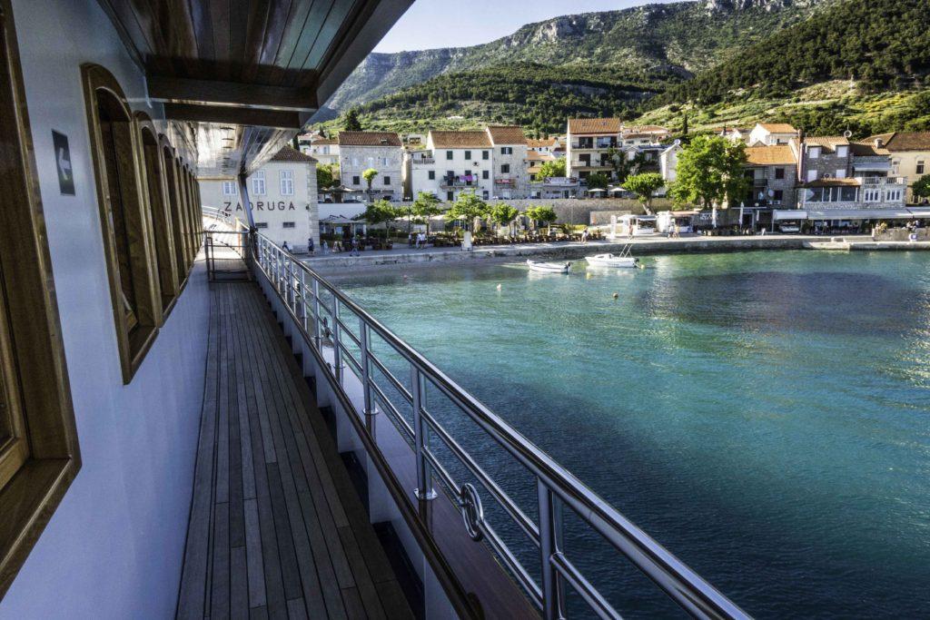 "Katerina Lines ""Futura"" at Bol, Brac Island, Croatia, Dalmatian Islands cruise, Aegean Sea, Croatia Islands Cruise"