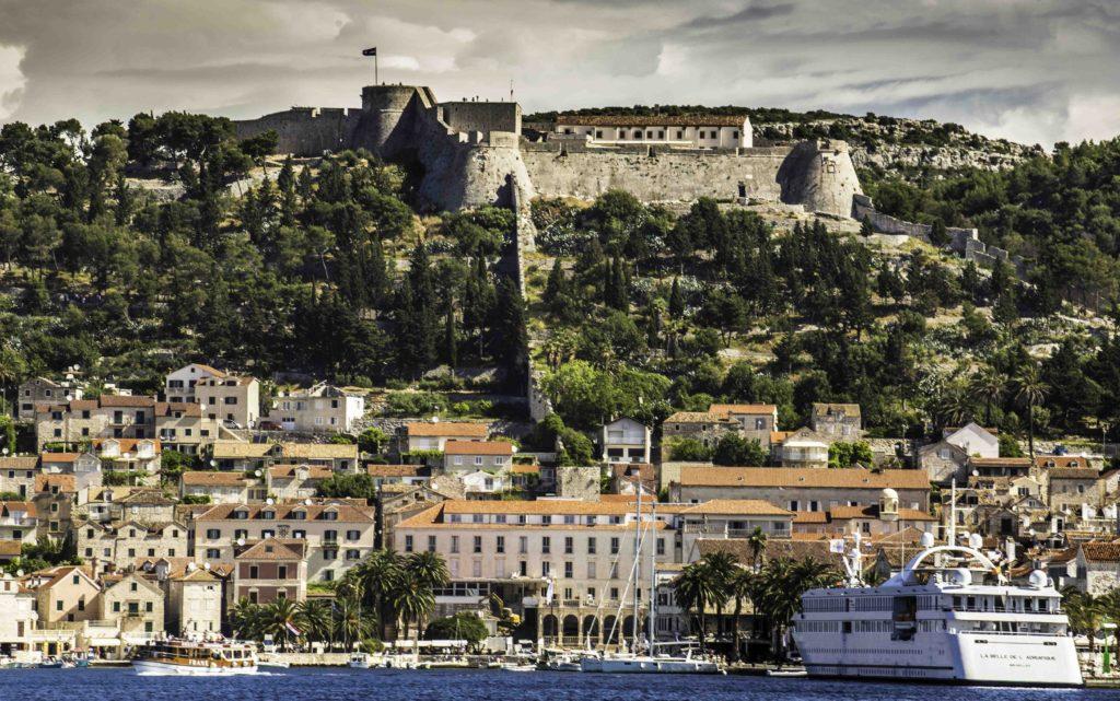 Venetian Fortress in Hvar Old Town, Hvar Island, Croatia, Dalmatian Islands cruise, Katerina Lines, Croatia Islands Cruise