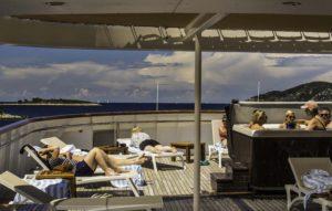 Sun deck of the Katerina Lines Futura, Dalmatian Island cruise, Aegean Sea, Croatia, Croatia Islands Cruise