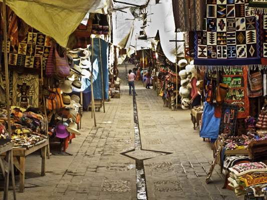 Pisac bazaar, Peru, Sacred Valley of the Inca