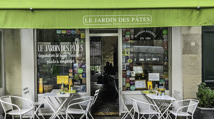 Le Jardin Des Pates Fraiches restaurant, Paris, France, for Stepping out Solo in Paris to dine