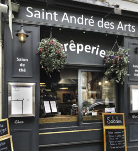Crêperie-Saint André des Arts restaurant for Stepping out Solo in Paris to dine