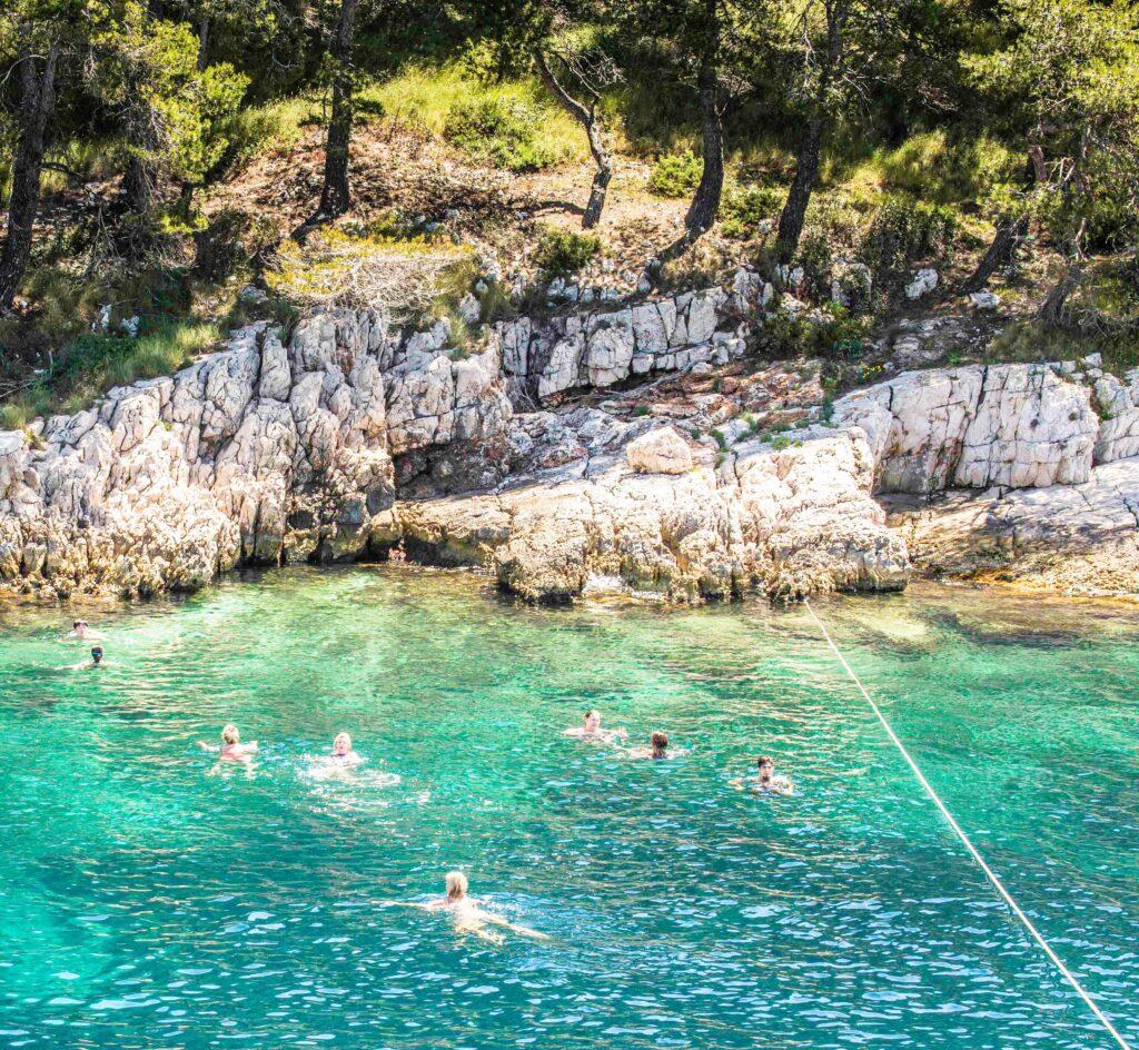 Noon swim stop in route to Hvar, Hvar Island, Dalmatian Islands, Croatia, Katerina Lines cruise, Croatia Islands Cruise