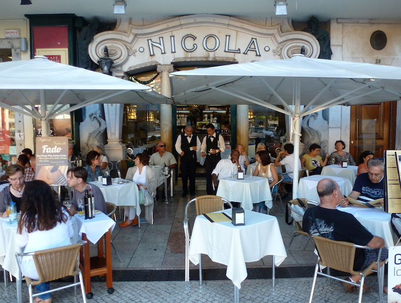 Café Nicola, a tourist spot now, but a literary and political meeting point when it opened in 1929, An Appetite for Lisbon, Portugal