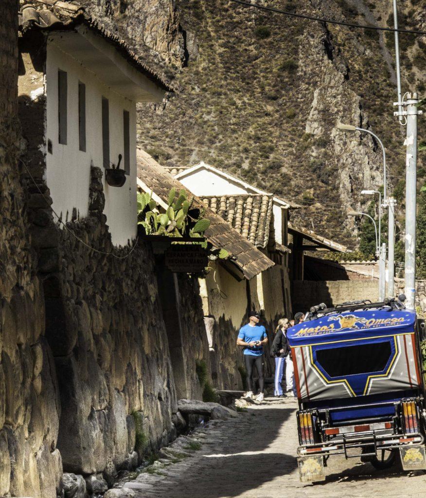 Once Inca imperial housing now tourist accommodations, Ollantaytambo, Road to Machu Picchu, Cusco region, Peru
