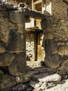 Inca traditional entry still in use, Ollantaytambo, Road to Machu Picchu, Cusco region, Peru