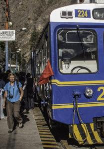Peru Rail at Ollantaytambo Station, On the Road to Machu Picchu, Cusco region, Peru