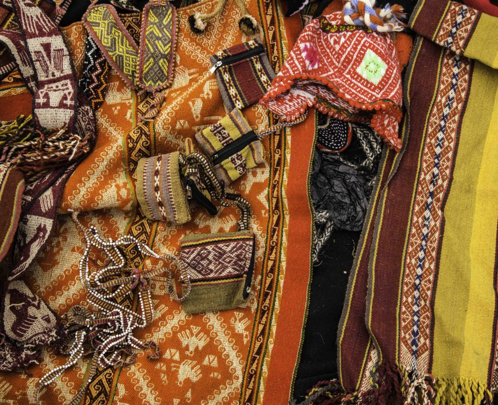Traditional weavings of Patacancha, Ollantaytambo, On the Road to Machu Picchu, Cusco region, Peru