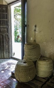 Henequen hemp (sisal) rope derived from Yuca, Hacienda Sotuta de Peón, Campeche, Mexico