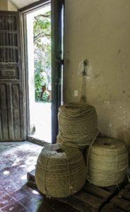 Henequen hemp (sisal) rope derived from Yuca, Hacienda Sotuta de Peón, Campeche, Mexico