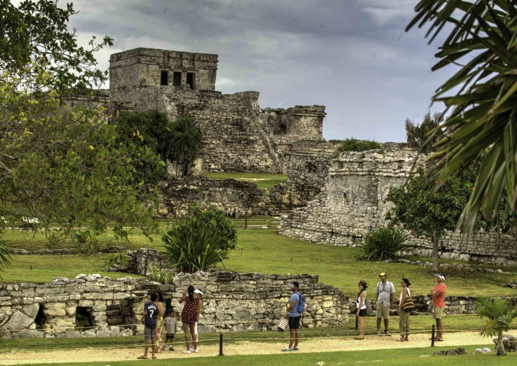 Tulum Castillo, Tulum archeologic site, Quintanaroo, Mexico