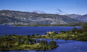 A morning walk along the lake in Ustaoset,Oslo to Bergen by Train, Norway by Train
