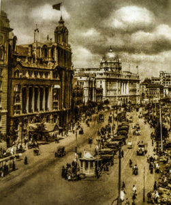 """The Bund in the 1930s (Photo courtesy of: """"The Bund Shanghai: China Faces West by Peter Hibbard, Odyssey Books, 2015"""")"""