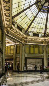 Lobby of the former Cathay Hotel, #30 The Bund, Shanghai, China