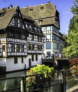 """Strasbourg's picturesque canal quarter called La Petite France"""