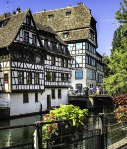 """Strasbourg's picturesque canal quarter called La Petite France"""