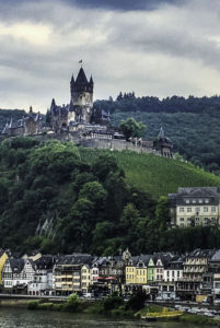 Reichsburg Castle and vineyards over Cochem, AmaPrima, AmaWaterways cruise, Germany