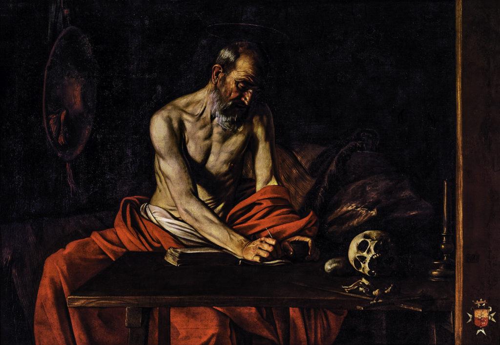 Caravaggio: Saint Jerome Writing, 1607. The Oratory of St. John's Co-Cathedral, Valletta, Malta
