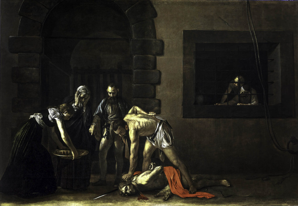 Caravaggio: Beheading of Saint John the Baptist, 1608. The Oratory of St. John's Co-Cathedral, Valletta, Malta