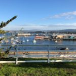 Monterey Harbor from Lower Presidio Historic Park, California