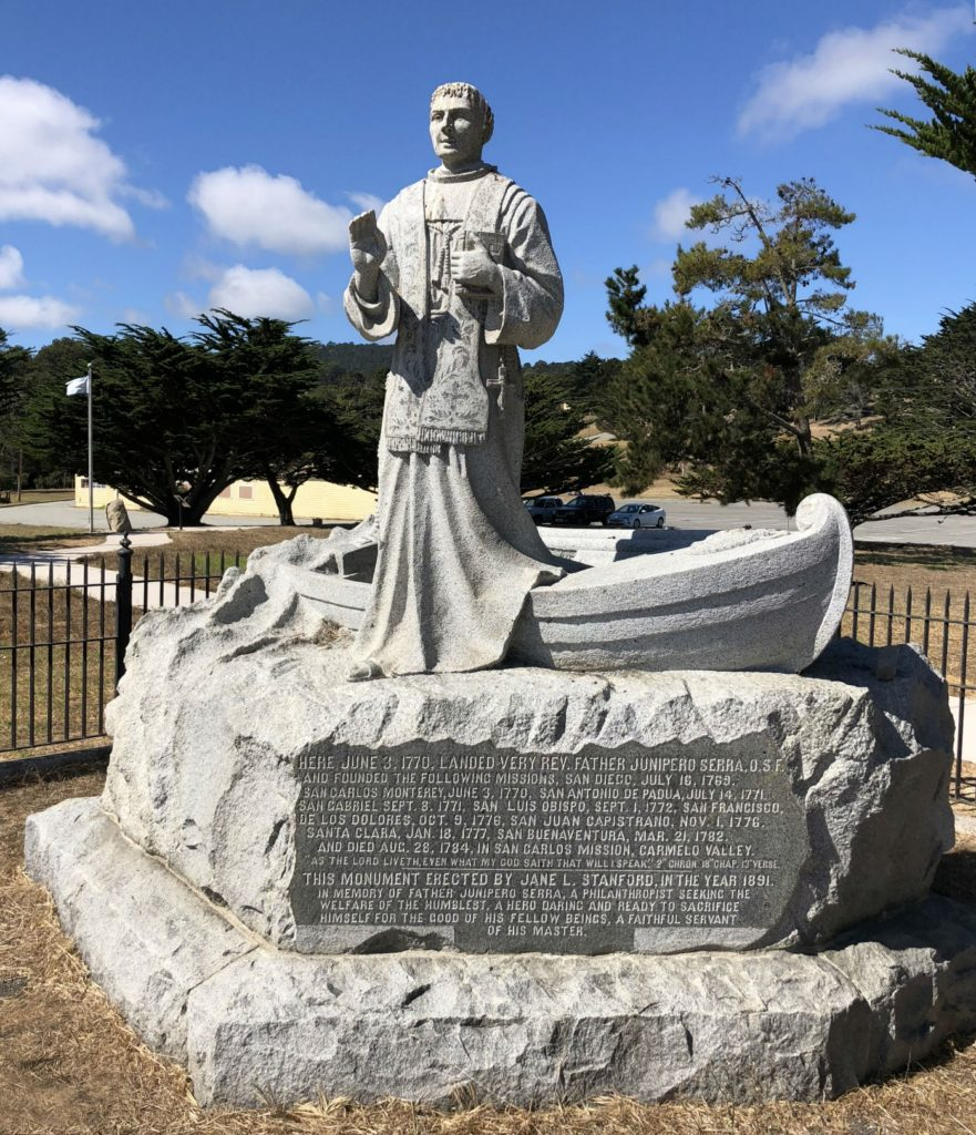 St. Serra is reunited with his head, Monterey, California