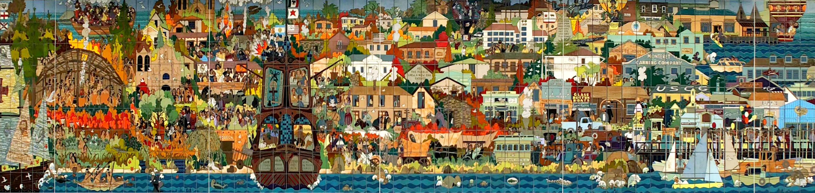 The Monterey Mural, Guillermo Wagner Granizo 1983, Monterey, California