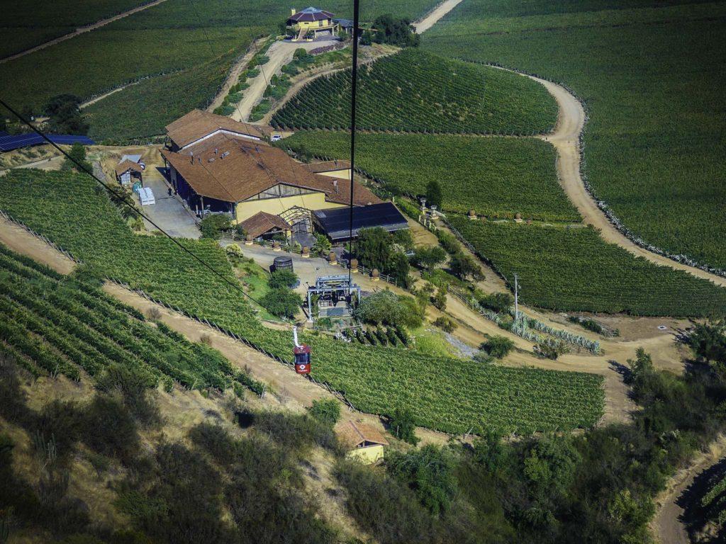 Cable car to the top of Cerro Chaman at the Viña Santa Cruz estate, Colchagua Valley, Chile