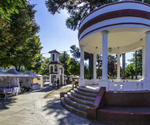 Plaza in Santa Cruz, the heart of the Colchagua Valley, Chile