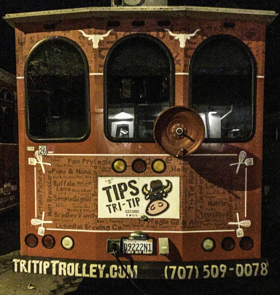 Tips Trolley, Tips Roadhouse restaurant, Kenwood, California