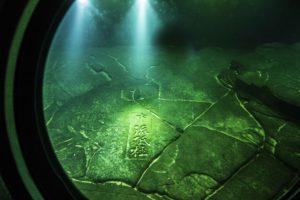 Underwater view of White Crane Ridge, Yangtze River Three Gorges Cruise, Fuling, China