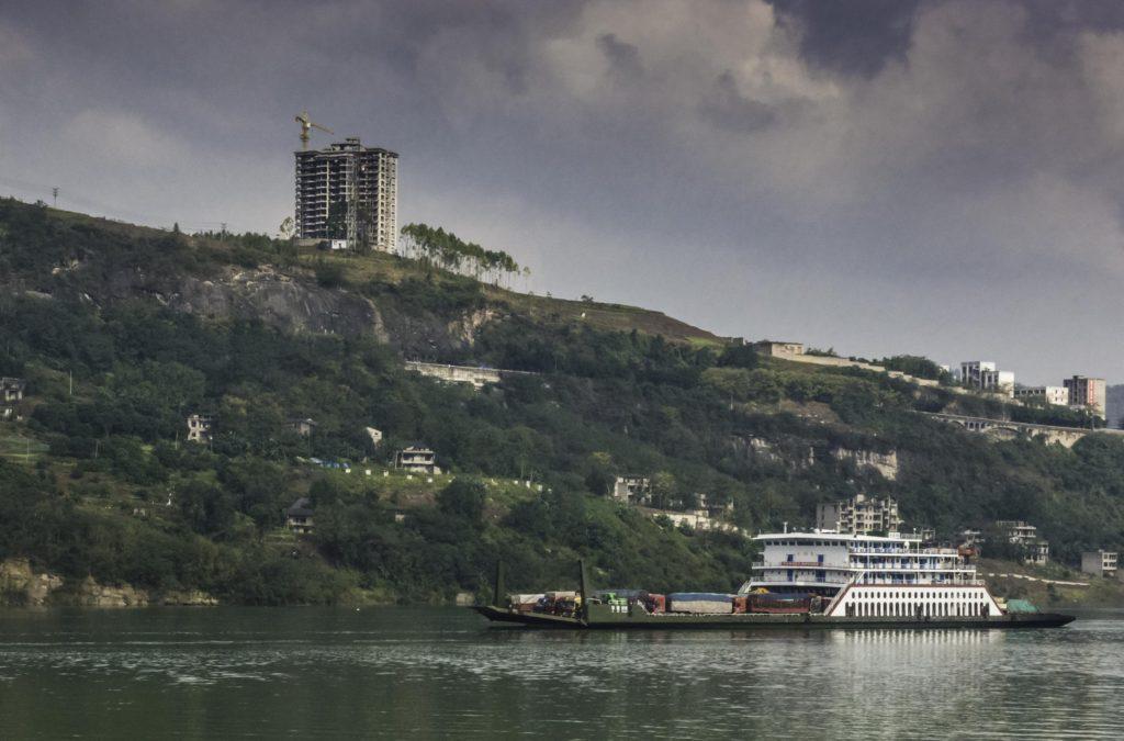 Construction on the Yangtze River, Chongqing, China, Three Gorges Cruise