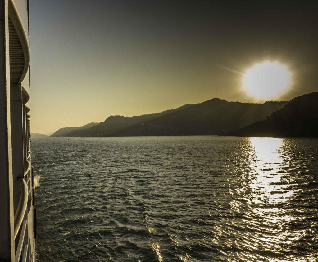 Sunset on the Yangtze River, Three Gorges Cruise, Chongqing, China