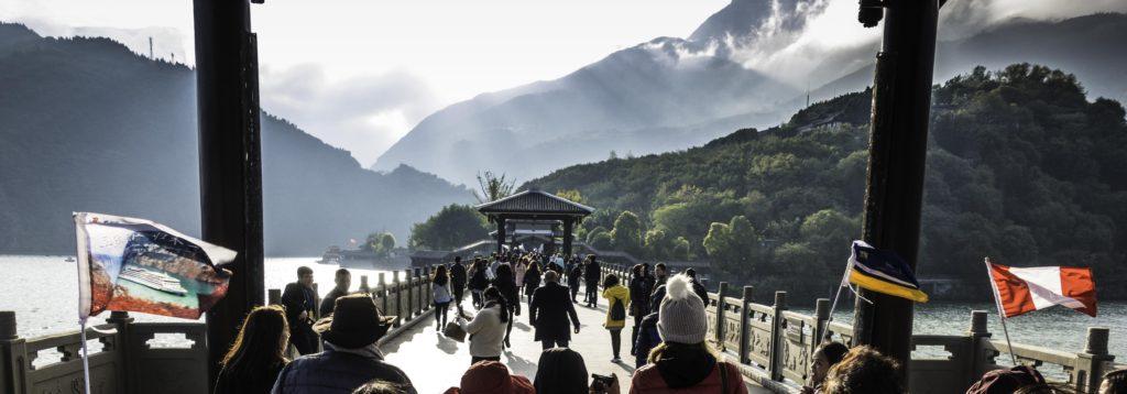 Bridge to BaidiCheng, White Emperor City, Yangtze River Three Gorges Cruise, Chongqing, China