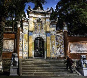 Kui dragon gate entrance to Baidi City, White Emperor City, Yangtze River Three Gorges Cruise, Chongqing, China