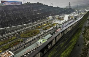 Ship locks at Three Gorges Dam, Yangtze River Three Gorges Cruise, Chongqing, China