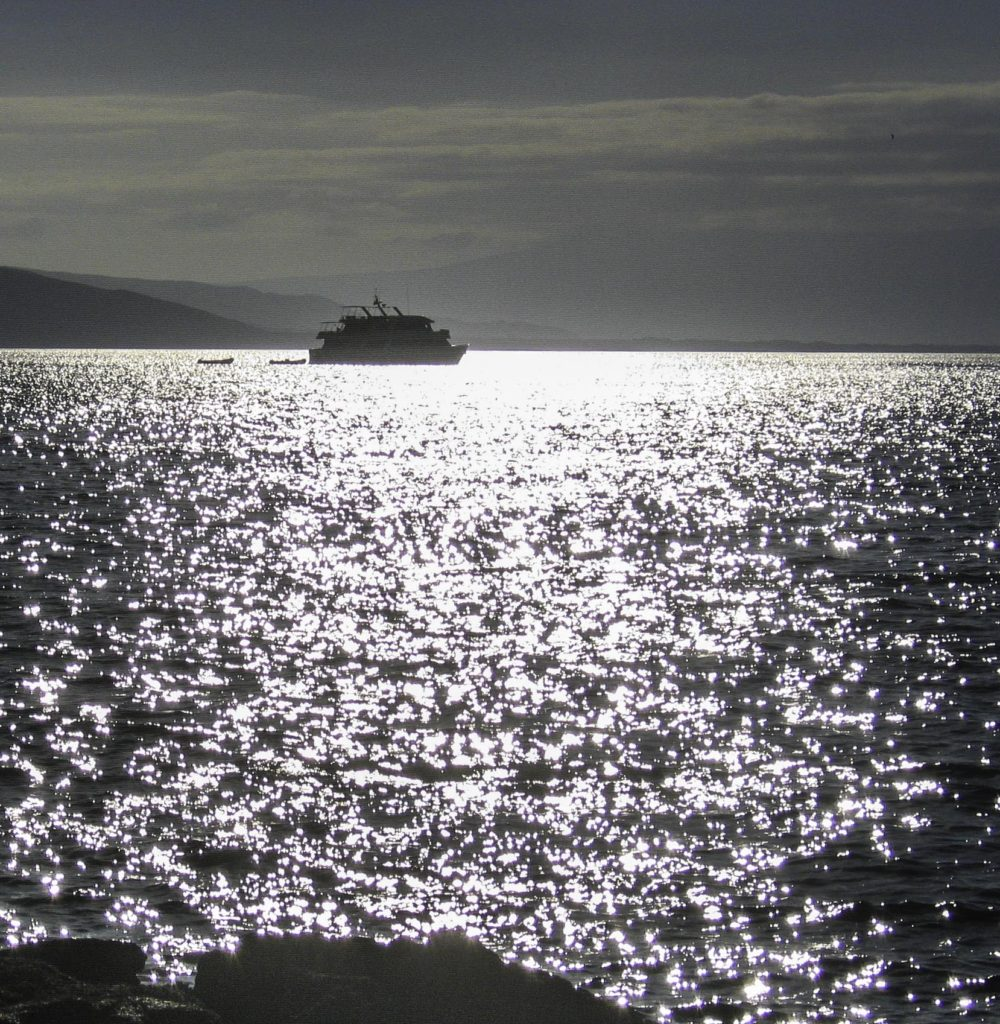 Silvery dusk in the Galapagos Islands, Ecuador