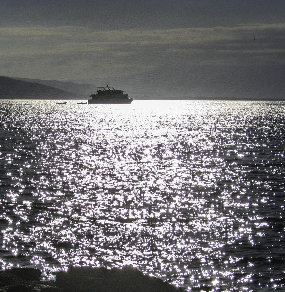 Silvery dusk in the Galapagos Islands, Ecuador
