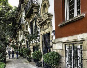Leafy streets of Roma Norte, Roma Colonia, Mexico City, Mexico