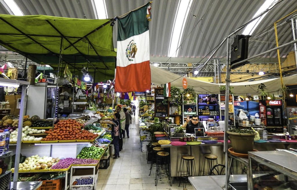 Mercado Medellín in Roma, Roma Colonia, Mexico City, Mexico